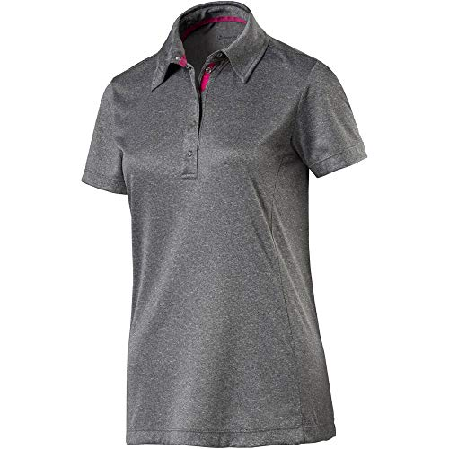 Nakamura 4033927085044 Polo Chemise Femme, Gris mélange, - FR : 46 (Taille Fabricant : 44)