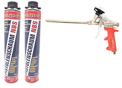 Toolzy 101672 3er Set 1k PUR- Pistolenschaum NBS Made in Germany Bauschaum