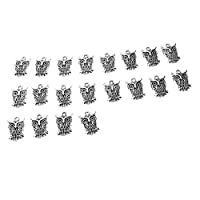 Kloware 20個フクロウブリッド美しいチャームネックレスイヤリング用ペンダントビーズ