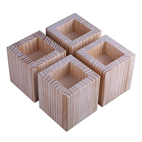 Möbelheber aus Holz, 4 Packungen Rillenbettheber – Hebt bis zu 299 kg Couch, Sofa oder Tisch, zum Anheben von Sofa-Beinen (Größe: D)