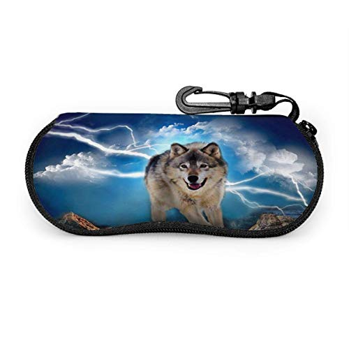 Ligh Wolf Raining Day Sungses Case Portable Soft Gses Case Slim Ultra Light Gses Box Delicate Eyewear Case Zippered Eyegs Case Protective Sungs Accories for Women Men