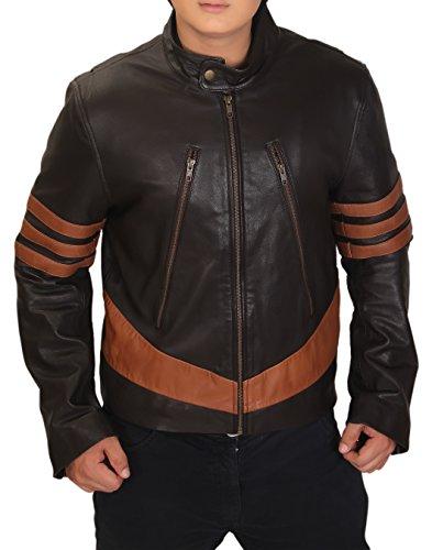 Superior Leather Garments X-Men Wolverine Logans XO réplica Real con una Chaqueta de Cuero