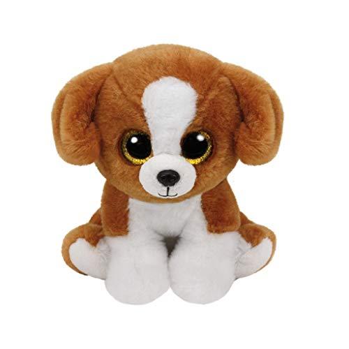 Carletto Ty 90243 - Snicky - Hund mit Glitzeraugen, Beanie Classic, 23 cm