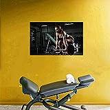Arte de la pared de la lona 70x90 cm sin marco mancuernas cartel de entrenamiento gimnasio culturismo cartel de fitness impresión sexy girl entrenamiento motivación hogar decoración del gimnasio