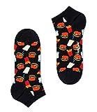 Happy Socks Calcetines Unisexo Hamburger Low Socks Tamaño 41-46