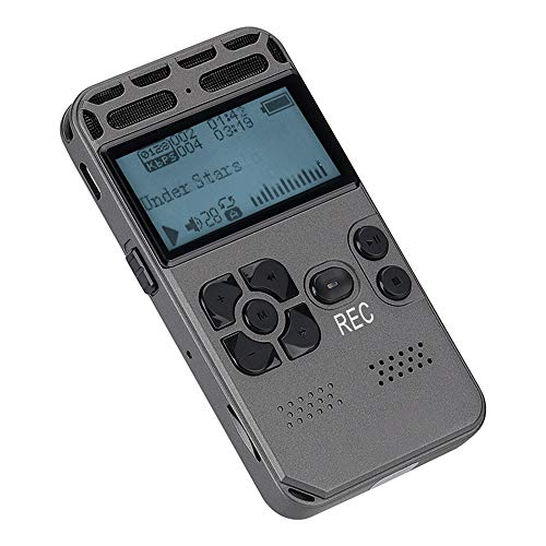 HUIGE Best Voice Activated Recorder Device,Lectures,mp3 Files, Digital Dictaphone Mini Player, Sound Microphone