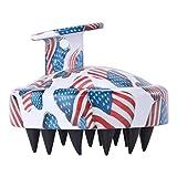 Bonarty Head Hair Scalp Scrubber Masaje Cepillo Champú Cepillo Suave para Niñas Mujeres - Bandera estadounidense