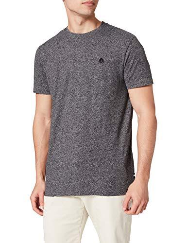 Springfield Camiseta Regular Textura, Negro, M para Hombre