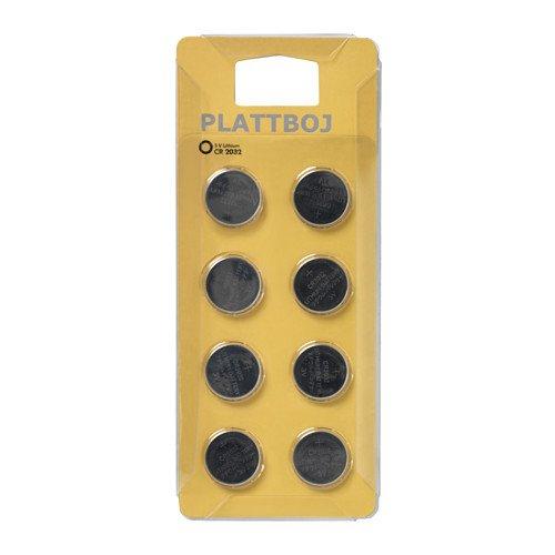 IKEA plattboj–Batteria al litio/8Pack/8pezzi–CR20323V