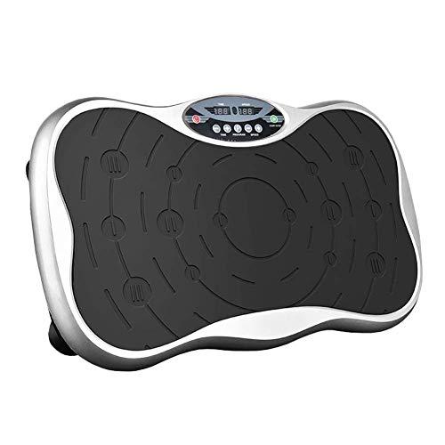 DLJAC Potente | Plataforma vibratoria - la Aptitud del Ejercicio de la máquina Trainer - Masaje Corporal Slim - Plataforma oscilante - de Todo el Cuerpo Sacudir (Color : Silver)