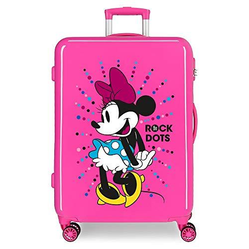 Disney Minnie Sunny Day Maleta mediana Rosa 48x68x26 cms Rígida ABS Cierre...