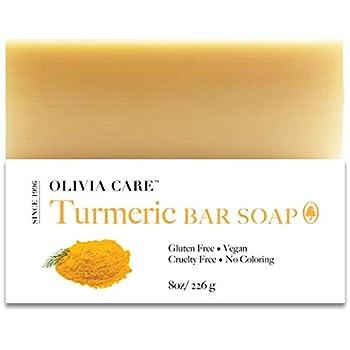 olivia care turmeric bar soap