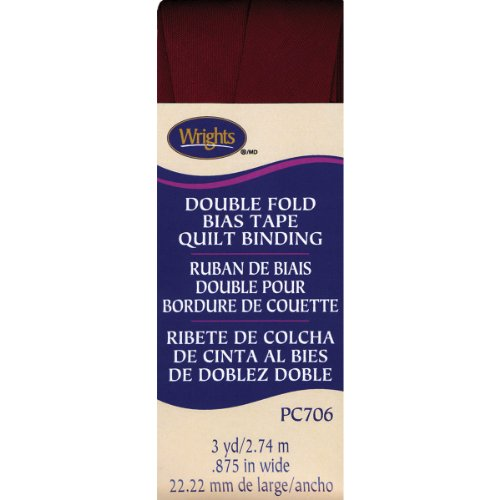 Purchase Wrights Double Fold Quilt Binding .875″X3yd-Ox Blood