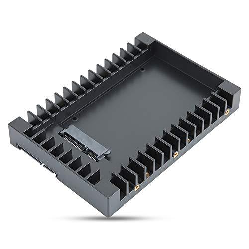 BOLORAMO Soporte De Disco Duro, Adaptador De Disco Duro De 2,5 A 3,5 Pulgadas SSD HDD Soporte De Montaje Bandeja Caddy Groove Ventilación para Disco Duro De 2,5 Pulgadas O SSD De 7/9,5/12,5 Mm