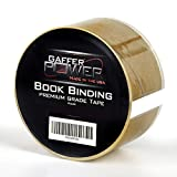 Bookbinding Tape by Gaffer Power, Clear Book Repair Tape Safe Library Book Hinging Repair Tape, Made in The USA, Acid Free and Archival Safe - 2' X 15 Yards