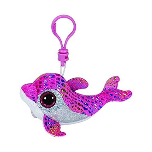 7a33c243955 Amazon.com  Ty Beanie Boo Key Clip Pink Dolphin Sparkles  Toys   Games
