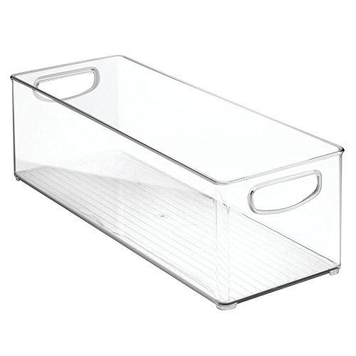 iDesign Cabinet/Kitchen Binz Aufbewahrungsbox, extragroßer Küchen Organizer aus Kunststoff, lange Box, durchsichtig