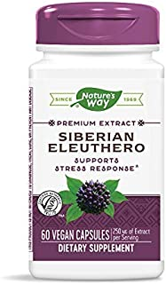 Nature's Way Siberian Eleuthero, 250 mg of Extract per serving, 60 Capsules