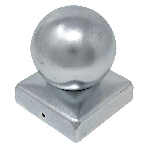 8 x SO-TOOLS® Pfostenkappe mit Kugel Stahl verzinkt Abdeckkappe für Pfosten 80 x 80 mm