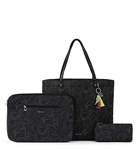 Sakroots Women's On The Go Tech Bundle Laptop case, Black Spirit Desert, One Size
