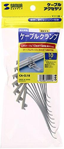 サンワサプライ ケーブルクランプ 10個入り CA-CL18