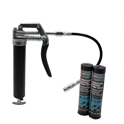 Lubrimatic 40014 Marine Lubrication Kit - Includes Mini Grease Gun & Hose, Boat Accessories, Corrosion Control & Repair System, Includes 2 - 3 oz. Tubes of Multi-Purpose Grease
