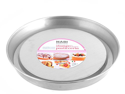 HABI - Moule à Tarte inversé, en Aluminium, Couleur Gris, 33 x 33 x 5 cm