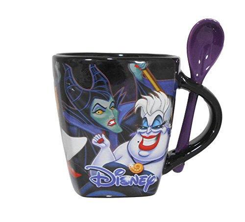 Disney Classic Villains Ceramic Coffee Beverage Mug and Spoon Set