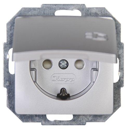 Kopp 920820085  Paris Schutzkontakt-Steckdose mit Deckel und erhöhtem Berührungsschutz
