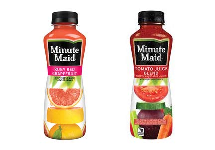 LUV BOX - Variety Minute Maid Juice Pack 12oz Plastic Bottle, 20ct.,Ruby Red Grapefruit Blend,Tomato Juice Blend.