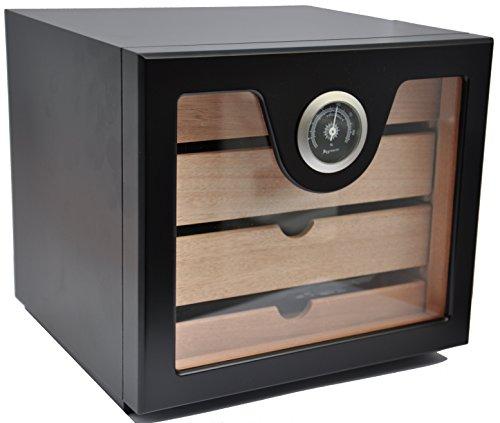 Humidor Schrank - für 60 Zigarren - schwarz