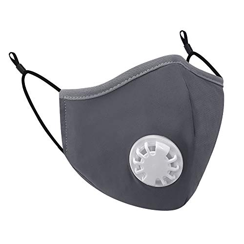 Cloth Face Mask Reusable with 2 PM 2.5 Filters, Washable Breathable Face Mask, Cotton Face Mask for Women and Men By BAIGEWA