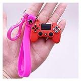 Hzdmfgs Schlüsselbund Kreatives Videospiel Griff Keychain Simulation Joystick Modell Schlüsselanhänger Ring Anhänger Männer Frauen Paar Schlüsselhalter Schmucks Geschenk (Color : K6050 10b)