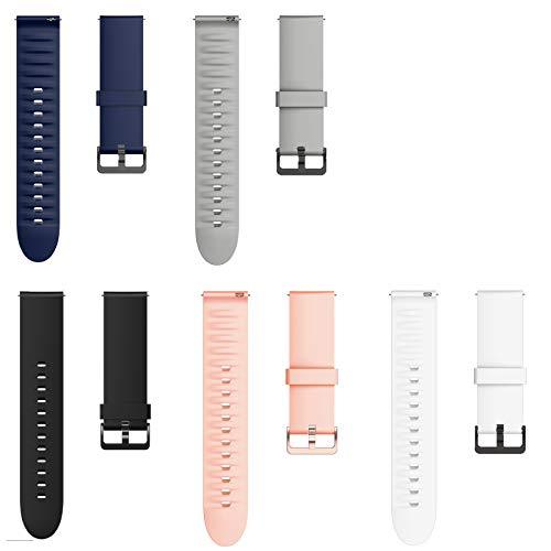 Giaogor Armband Kompatibel Für OnePlus Watch, Sport Silikon Classic Ersatz Uhrenarmband Für Xiaomi Huami OnePlus Watch (5 Pack)