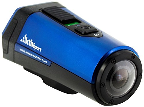 Coleman CX9WP-BL AktivSport Coleman 1080p HD Action Sports Camera with GPS, 1-Inch OLED and Health Stats (Blue)