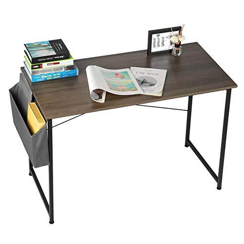 Escritorio de Computadora 43 pulgadas de escritorio de computadora industrial con bolsa de almacenamiento, escritorio, muebles de oficina en el hogar, escritorio de estudio, escritorio de la computado