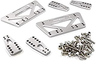 Integy RC Model Hop-ups C27015SILVER CNC Machined Chassis & Shock Mount Lift Kit for Axial 1/10 SCX-10 Scale Crawler