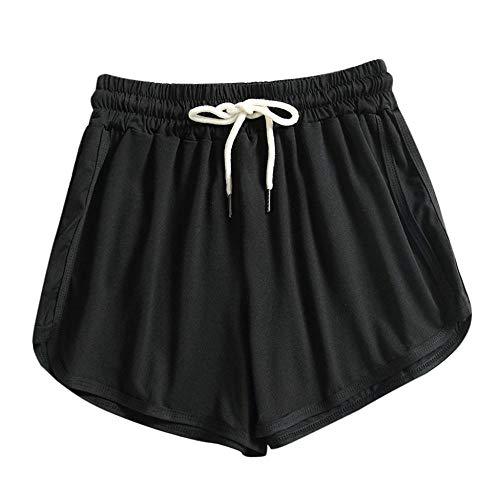 BUXIANGGAN Shorts Pantalones Cortos Mujer Leggings De Fitness Pour Femmes Shorts De Sport D Été À Séchage Rapide Moulants De Poche Pour Entraînement Course À Pied Cyclisme Yoga-Gris_L