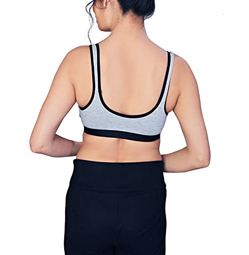 HU ENTERPRISE Women's Full Coverage Non Padded Non-Wired Daily Workout Sports Bra Invisible Neckline - (Multi Color) Size (32) Combo Pack of 3