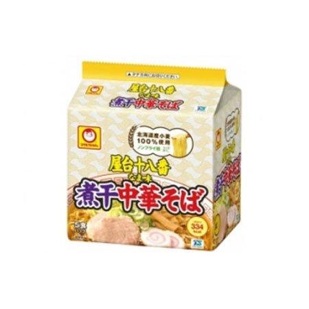 東洋水産 マルちゃん 屋台十八番 なま味煮干中華そば 5食パック×6セット 1ケース