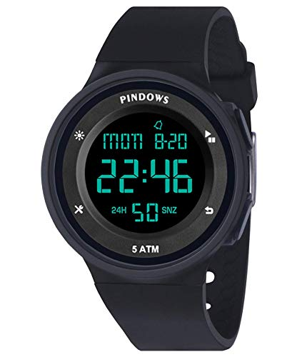 Relojes Digital Mujer Digital Relojes para Mujer Deporte Relojes Mujer Relojes Hombre Unisexo Relojes Adolescent con Alarma Ligero Timer Impermeable Cuenta Regresiva Multifuncional Reloje
