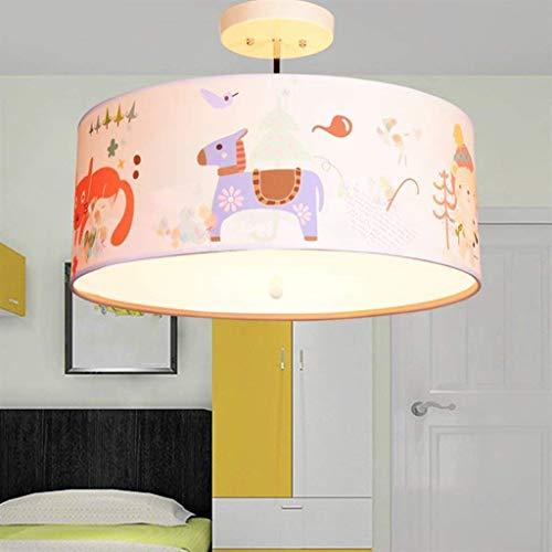 AXCJ Light- Fashion Creative, Prismáticos de Dibujos Animados, BedrooHabitación para niños 'S' Lámpara de Techo con lámpara de Techo, Iluminación Interior,B