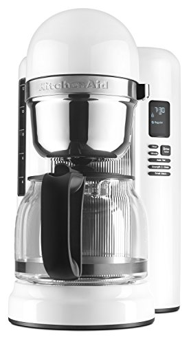 KitchenAid KCM1204WH 12-Cup Coffee Maker with One Touch Brewing - White