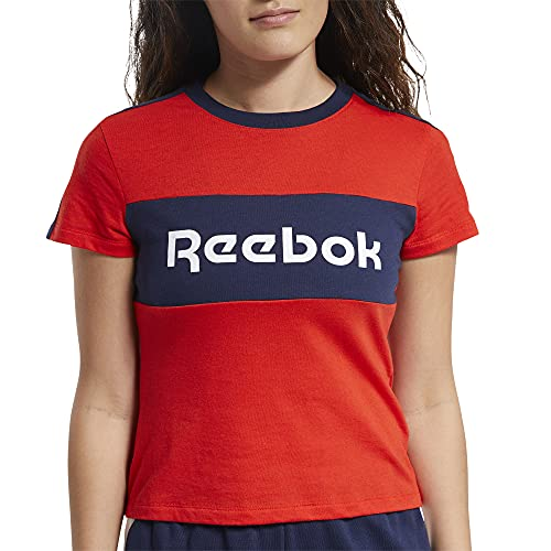 Reebok Te Linear Logo Detail Tee Maglietta Donna Inred 2XL