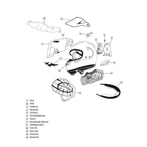 Motodak Kit Ventilation latéral ARAI Casque intégral Shade-White