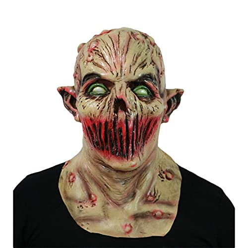 Máscara Disfraz Fiesta de Halloween Látex Máscara de Zombie Máscara para Adulto...