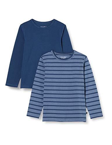 MINYMO Basic Langarm T-Shirt Camiseta, Nueva Marina De Guerra, 152 para Niños