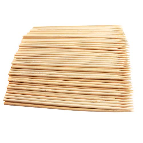 Unimall Pack of 500 Natural Bamboo Skewers for Cake Topper, 5.9 Inch 3mm Wooden Sticks for Cupcake Topper, BBQ,Appetiser, Fruit, Cocktail,Kabob, Chocolate Fountain, Grilling, Barbecue, Kitchen