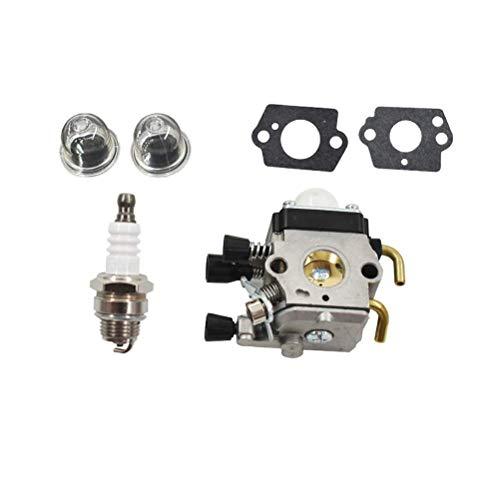 Carburador compatible con Stihl FS38 FS45 FS46 FS55 FS55R FS55RC KM55 HL45 KM55R HL45 FS45C FS45L FS45EZ FS55EZ FS55C FS55T FC55 FS74 FS75 FS76 FS80 FS85 FS310 Recortadores y cortadores C1Q-S169B