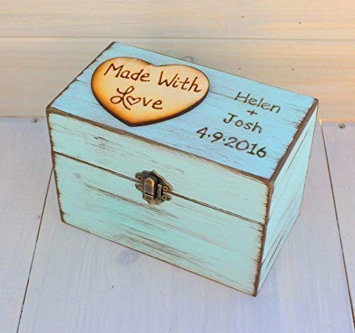 Rustic Recipe Boxes - Recipe Storage - Wood Recipe Box - MOTHERS DAY GIFT - BRIDAL SHOWER GIFT